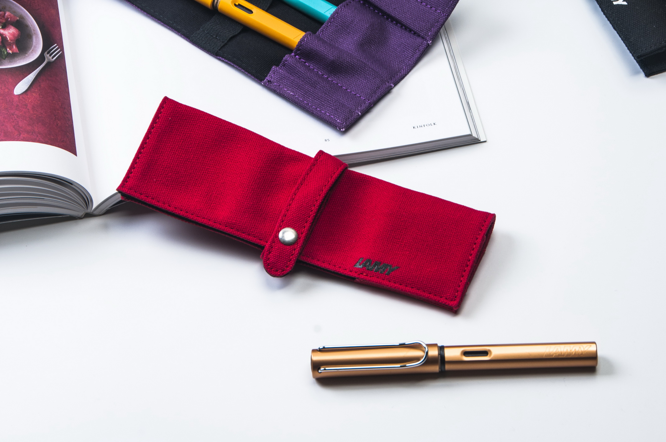 LAMY捲軸筆袋-紅色