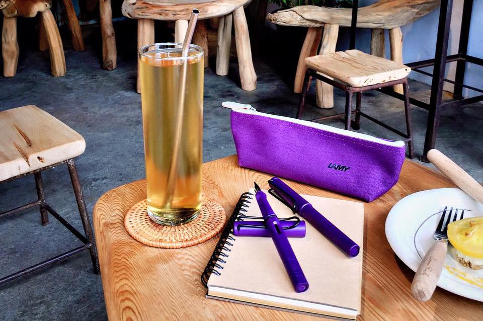 LAMY風格筆袋-紫色